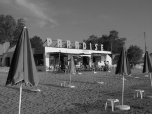 Beach cafe on Naxos, Greece