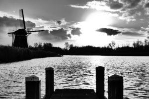 Windmill on polder edge, near Den Haag