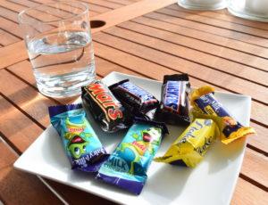 Photo of breakfast on Day 1 of chocolate week