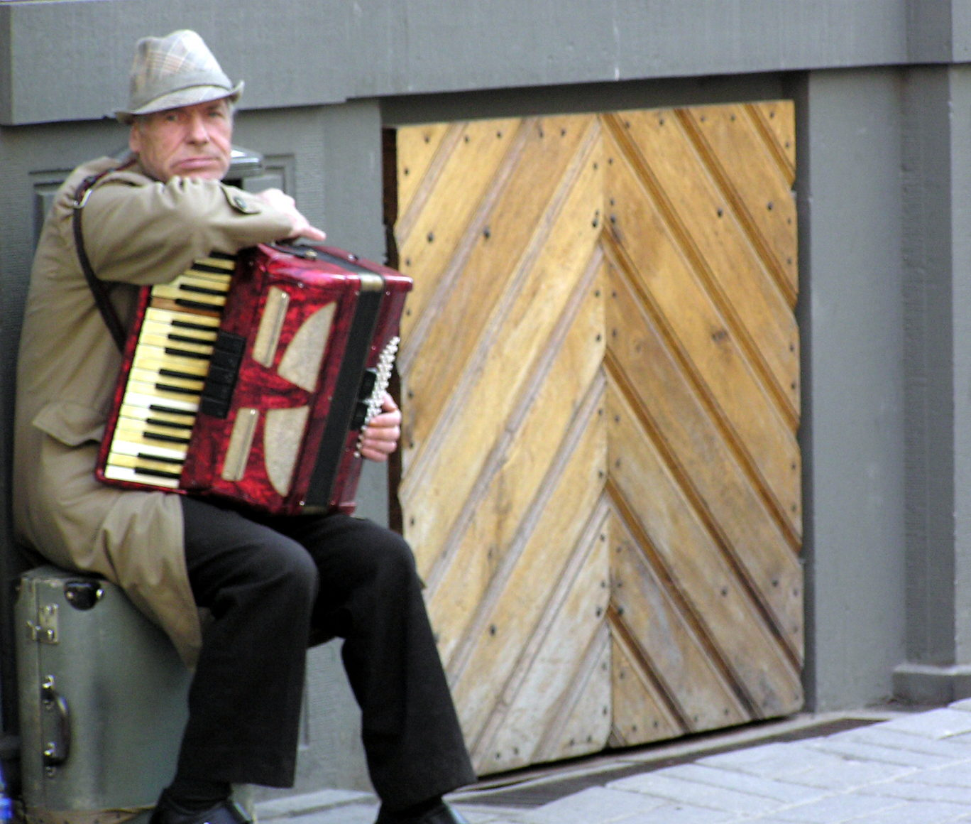 Man with accordion