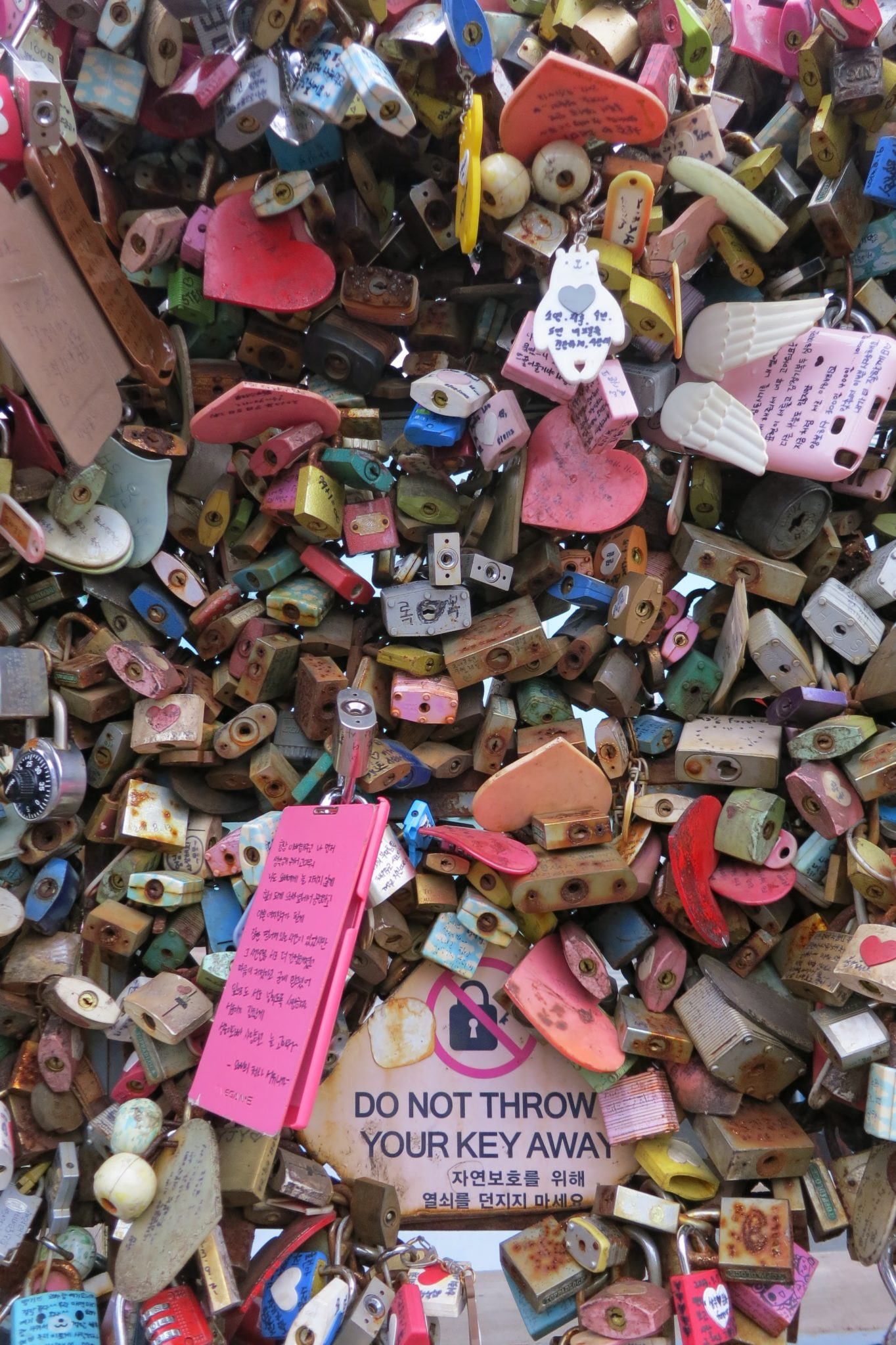 Seoul love locks
