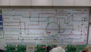 Japanese railway map. [Tokyo, Japan]