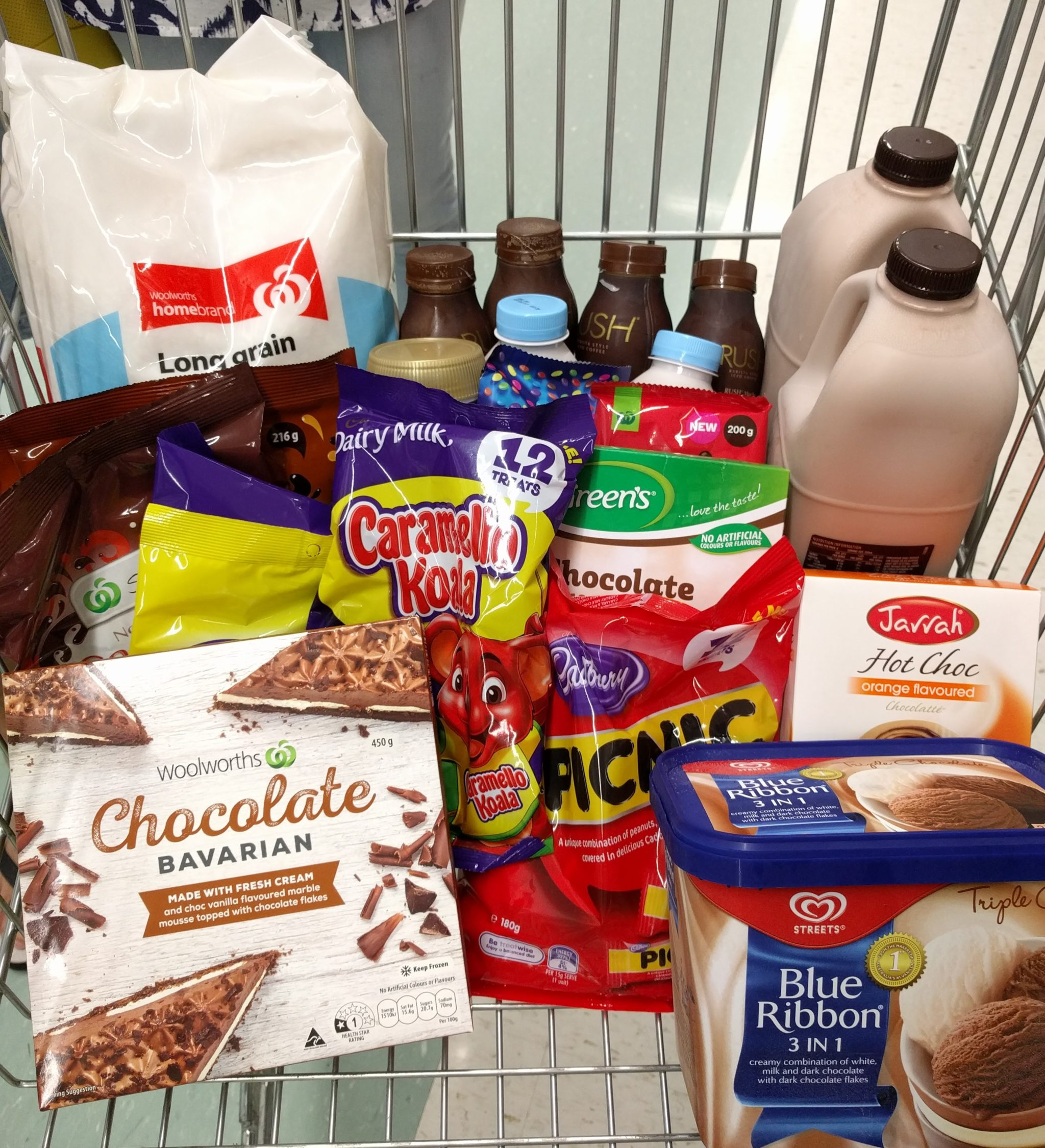 Shopping trolley for chocolate week